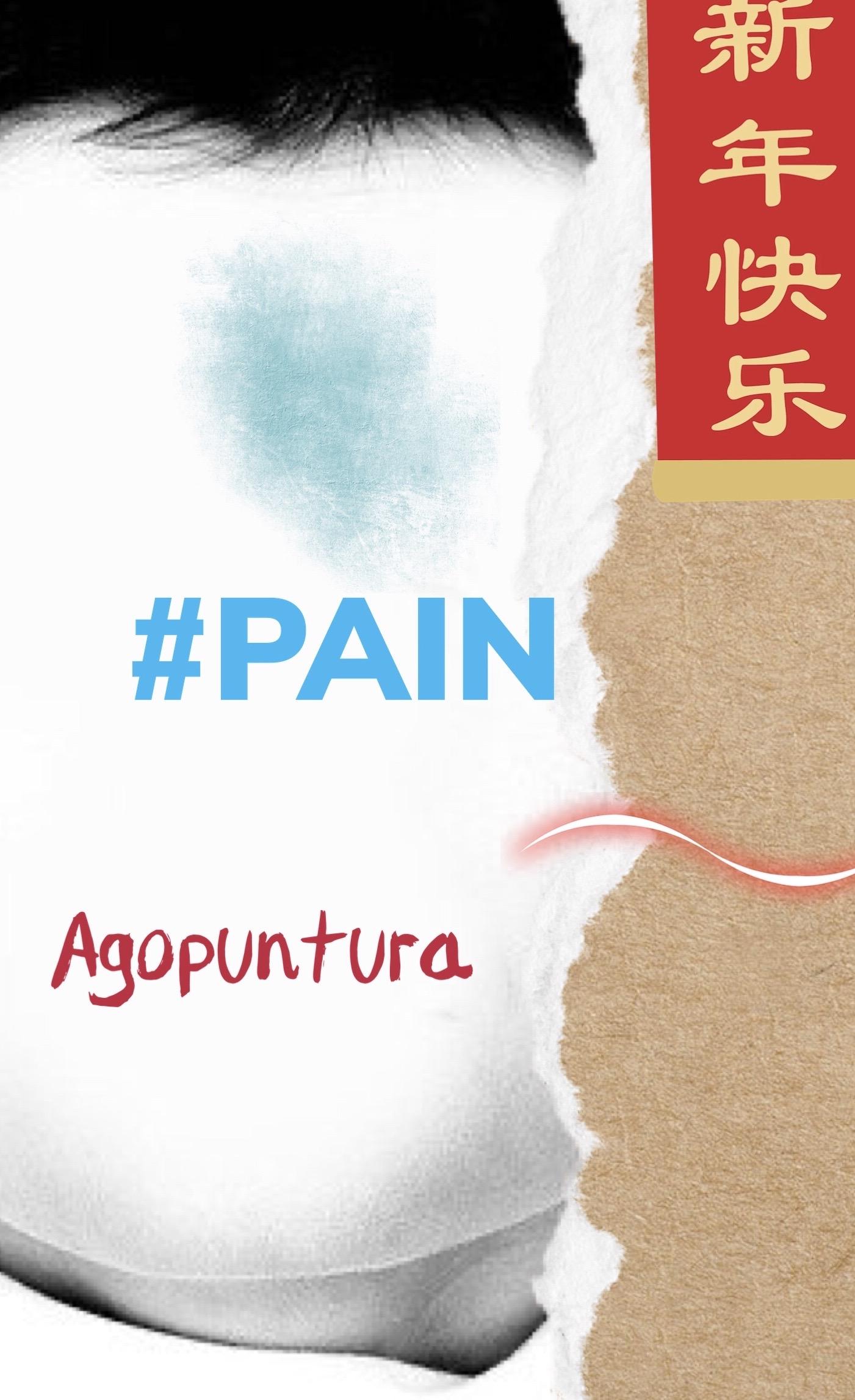 Che dolore! Uso l'agopuntura..